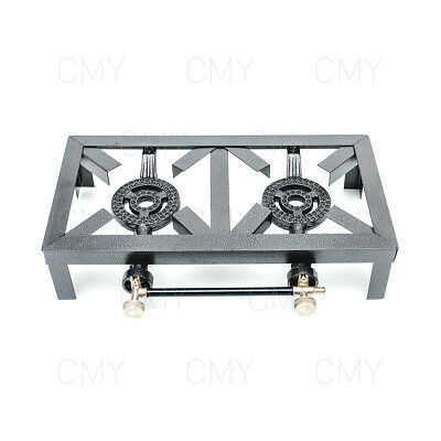 New Double Cast Iron Gas LPG Burner Cooker Gas Boiling Ring Restaurant Catering
