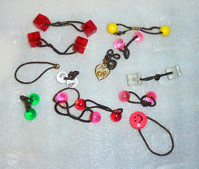Vintage Lot Ponytail Holders 70's 80's Girls Hair Accessories ~ FUN!