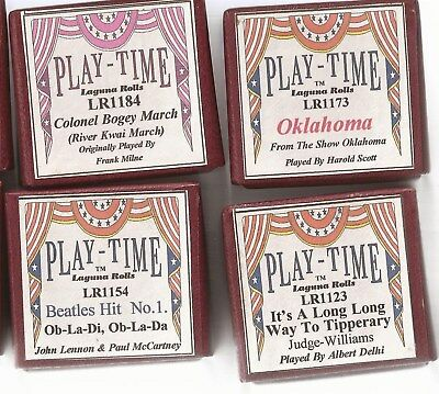 Pianola Rolls Laguna Playtime Beatles. Colonel Bogey March. Tipperary. Oklahoma.