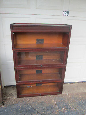Globe Wernicke  ART MISSION Barrister Sectional Bookcase MAHOGANY