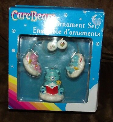 Care bears animation characters animation art characters set of 3 american greeting corps care bear ornaments collectible with box m4hsunfo