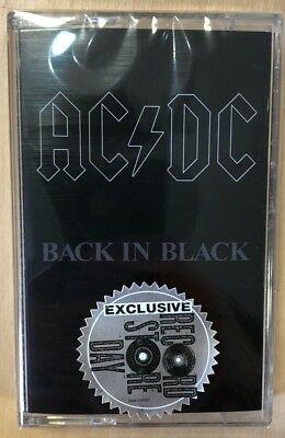 """AC/DC """"Back In Black"""" Cassette MC RSD 2018 New !!!  Limited 2,500"""