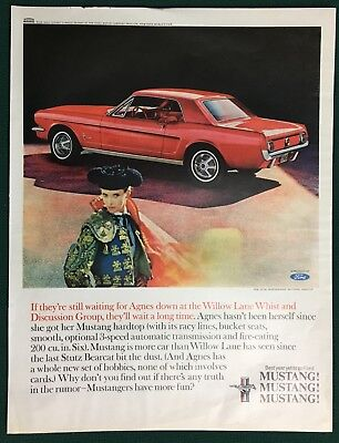 1965 FORD MUSTANG HARDTOP WITH MATADOR full pg color advertisement