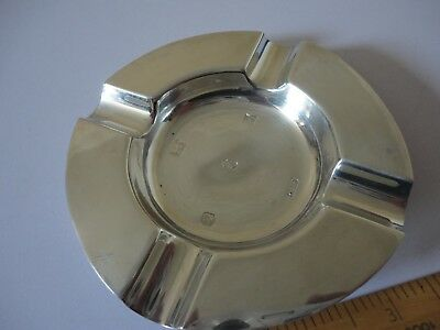 Solid silver hallmarked ashtray