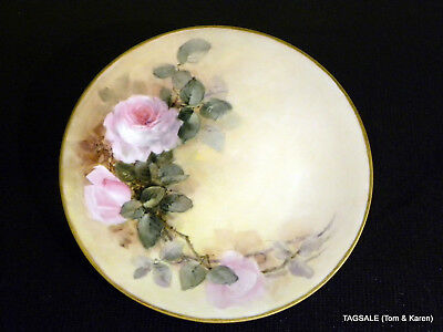 Antique JEAN POUYAT LIMOGES china PICTURED HAND PAINTED ROSES pattern  Gorgeous