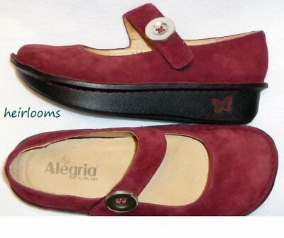 Alegria Paloma Shoes...Cranberry Suede...sz 38