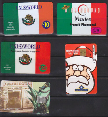 Seventeen Assorted MEXICO Phone Cards $680 Face Value