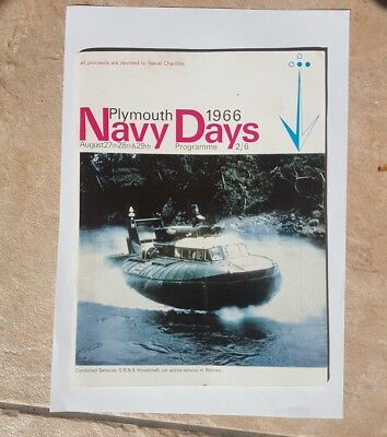 Plymouth Navy Days Programme 1966 featuring the Hovercraft in Borneo