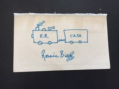 Ronnie Biggs Hand Signed Autograph / Hand Drawn Sketch Drawing