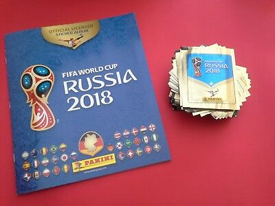 Album vuoto + 50 Bustine Panini World Cup Russia 2018 Stickers Panini Packets