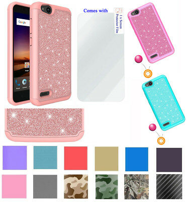 FOR ZTE ZFIVE G / ZFive C Case | Liquid Glitter Bling TPU Cover +