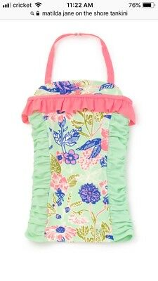NWT Girls Matilda Jane The Adventure Begins On The Shore Tankini Top Size 8