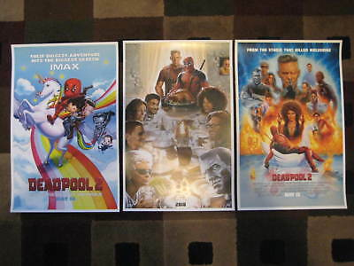 "DEADPOOL 2  (11"" x 17"") Movie Collector's Poster Prints ( Set of 3 )"