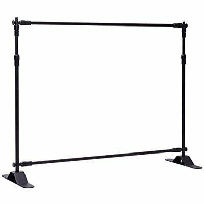 8'x8' Banner Stand Adjustable Backdrop Telescopic Trade Show Display W/ Carrying