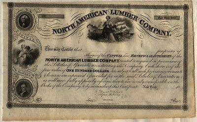North American Lumber Company Stock Certificate