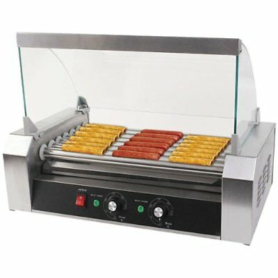 Commercial 18/30 Hot Dog Hotdog 7/11 Roller Grill Cooker Machine W/ Cover (7