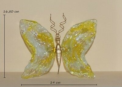 Handmade blowing glass butterfly yellow @real blowing glass art@