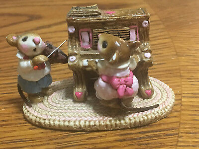"""Vintage Hard To Find Wee Forest Folk """" Mouse Duet"""" M-029 1978 Retired Look!!"""