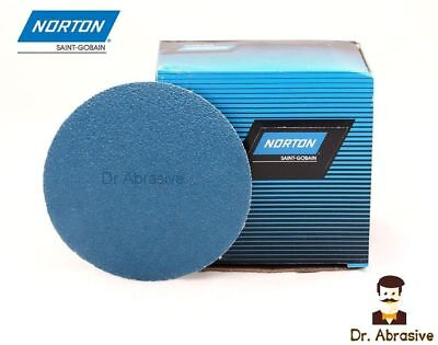 75mm Sanding Discs 3inch Zirconia Zirconium NORTON Pads  Hook and Loop Sandpaper