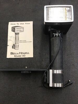 Vintage Camera Flash Bell & Howell Model 40 With Instruction