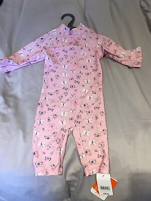 Girls 12-18m Sunsuit / Swim Suit Mothercare BNWT Pink Butterfly