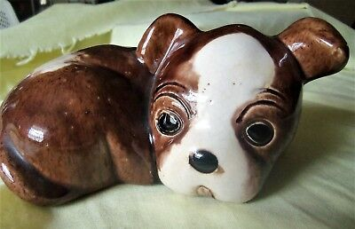 Lichten Ware Pottery Laying Pug Dog Figurine - Skipper