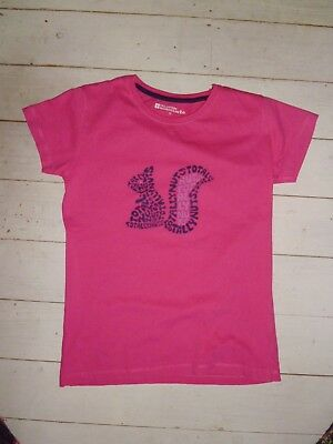 Mountain Warehouse Girls 'Totally Nuts' pink squirrel T Shirt - age 13