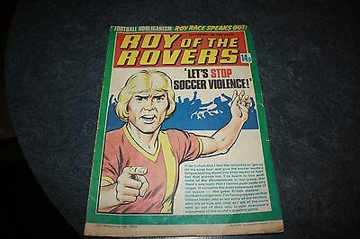 Vintage ROY OF THE ROVERS 22nd November 1980 Vintage Football Comic
