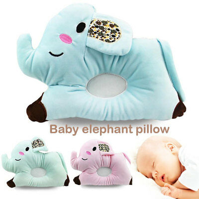Toddler Head Positioner Lovely Newborn Shaping Pillow Cartoon Elephant 4 Colors