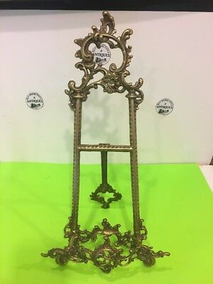 """Vintage Ornate Victorian Style Brass Easel Art Picture Frame Table top Stand 20"""""""