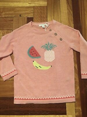 Pure baby Girls Organic Cotton Jumper