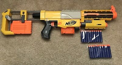 Nerf N-Strike Recon CS-6 Gun Rifle & Red Dot Tactical Light 20 Darts