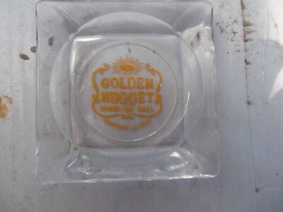 Vintage Golden Nugget Gambling Hall Glass Ashtray Downtown Las Vegas 1960's