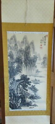 Asian Chinese Hanging Scroll - Landscape Waterfall