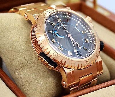 BREGUET Marine Royal 5847 BRZ2RZ0 18K Rose Gold BOX/PAPERS 2015 *MINT* MSRP-62K