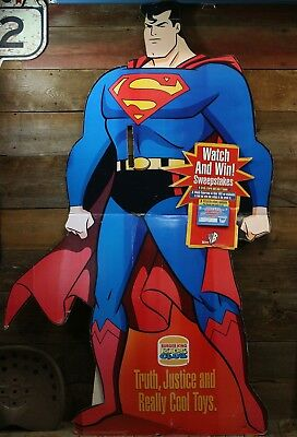 Vintage SUPERMAN WB Network BURGER KING Sweepstakes Contest STANDEE Sign Cut Out