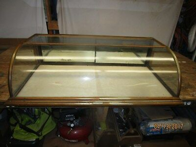 Vintage Curved Glass Counter Top Display Case Charles Biele