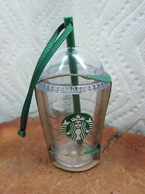 Starbucks Clear Cold Cup Christmas Ornament 2016