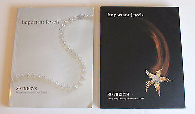 Sotheby's 2 Auction Catalogs Important Jewels Hong Kong 1996 1997
