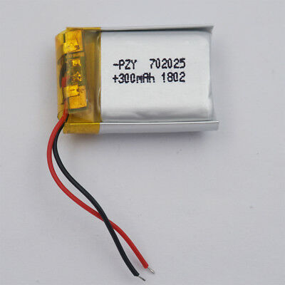 3.7v 300 mah Polymer Li battery Lipo 702025 for Mp3 watches headset record pen