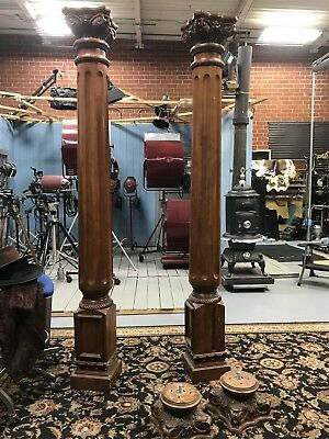Vintage Pair of Ionic Fluted Large Columns