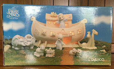 Precious Moments Two By Two The Noah's Ark Story MIB 8 pieces # 530948 1992