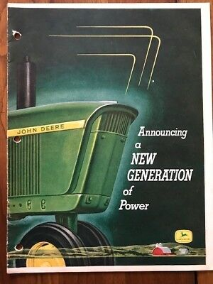 """John Deere """"Announcing a New Generation of Power"""" brochure from 1960"""