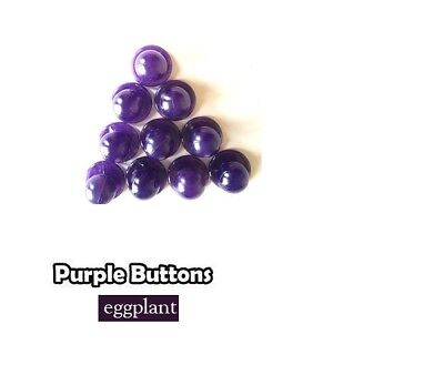 Chef Jacket Buttons- 10 Buttons pack - Purple (Eggplant)