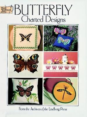 "NEW!  Dover Needlework Series ""Butterfly Charted Designs"" Book to Cross Stitch"