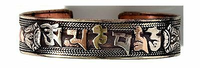 BUDDHAFIGUREN - Buddha Bracelet 15 mm copper with Om mani peme hum f6xOP3o3tq
