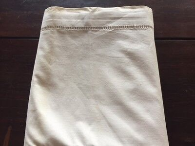 French metis bed sheet, with ladderwork hem, never used