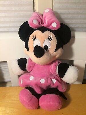 14 Disney Baby Minnie Mouse Stuffed Animal Plush Toy Soft Doll Pink