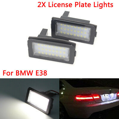 1Set 24 LED License Plate Lights Lamps Bulbs Canbus fit for BMW 7 Series E38