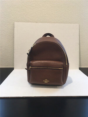 025a669830 COACH WOMEN S BAG Mini Charlie Backpack In Pebble Leather Coach F38263  F58315